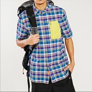 Without Walls Pocketed Short-Sleeve Flannel Shirt